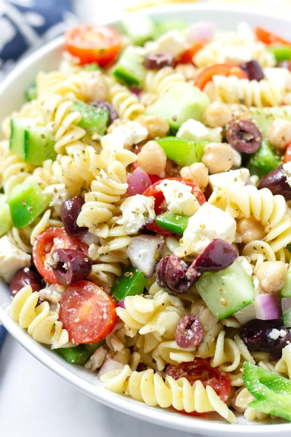 Summer Pasta Salad with Greek Dressing