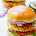 Salmon Burgers on Brioche Buns