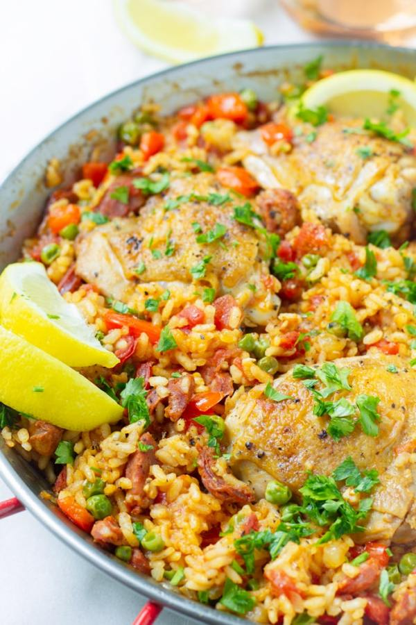 Chicken and Chorizo Paella Recipe Easy