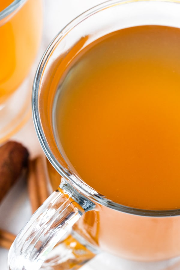 Hot Apple Cider in Crockpot