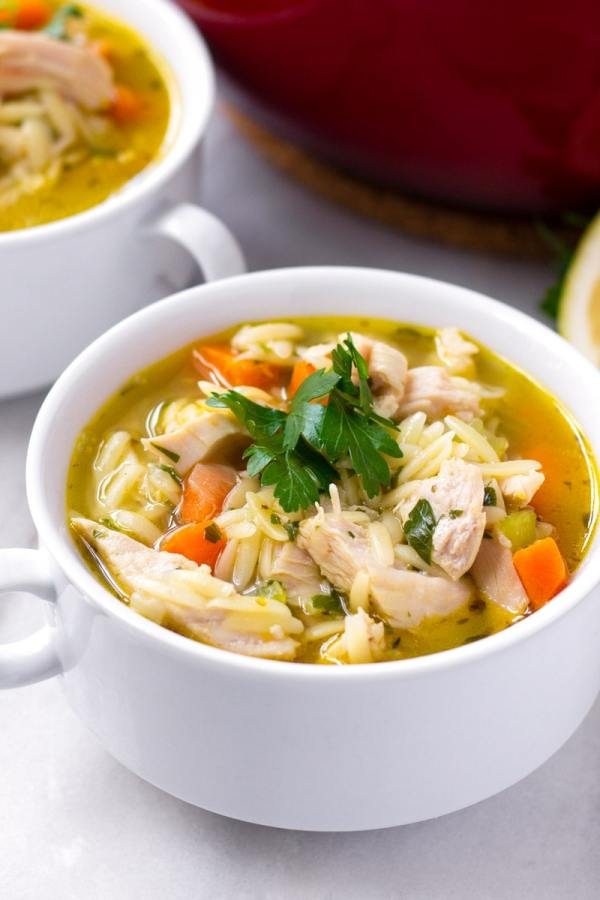 One Pot Turkey and Orzo Soup
