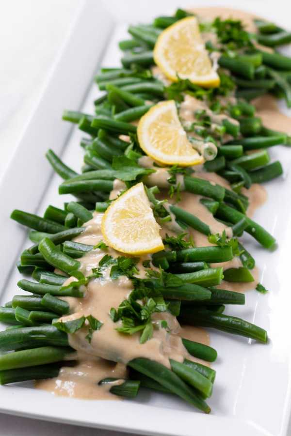 Green Beans or Haricot Verts with Tahini Dressing