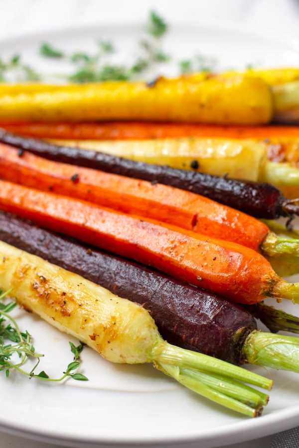 Maple Glazed Rainbow Carrots