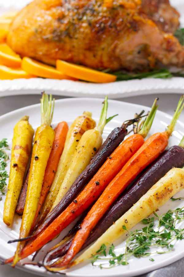 Maple Roasted Colored Carrots
