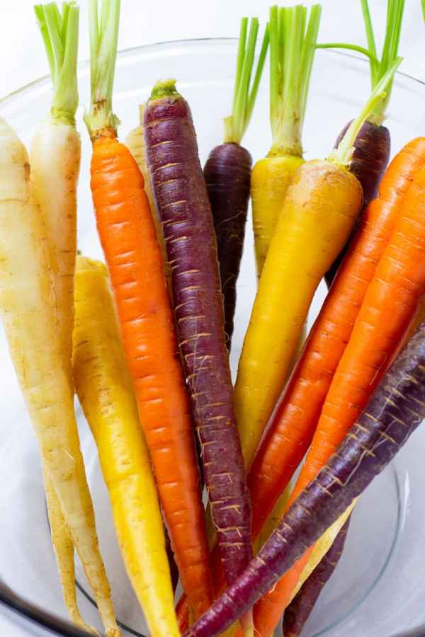 Bowl with Multicolored Carrots