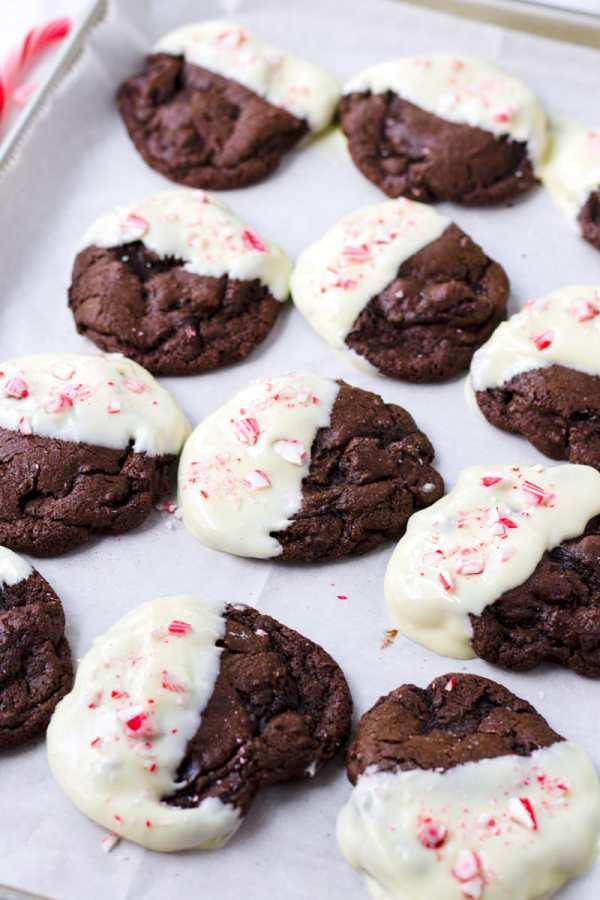 Peppermint Chocolate Mocha Cookies