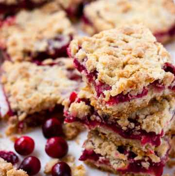 Sweet Cranberry Crumb Bars Recipe