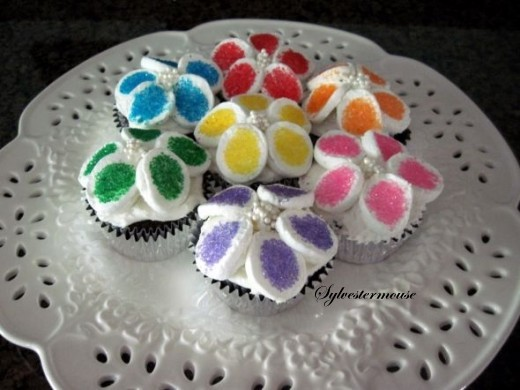 Marshmallow Flower Cupcakes