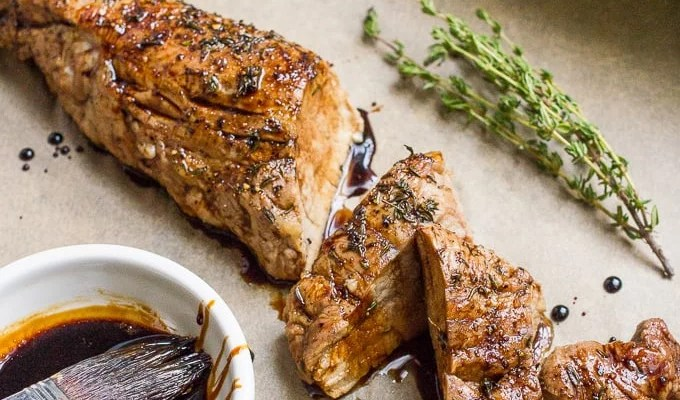 Pork Tenderloin With  Balsamic And Thyme