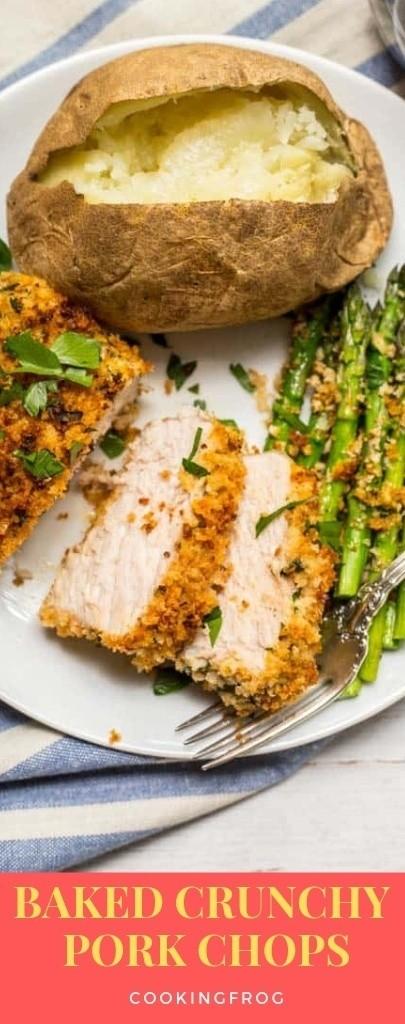 Baked Crunchy Pork Chops Recipe   Pinterest