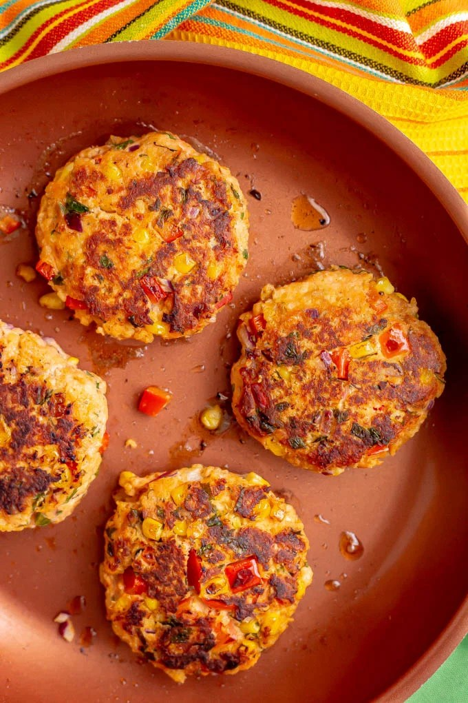Southwestern Salmon Burgers With Lime