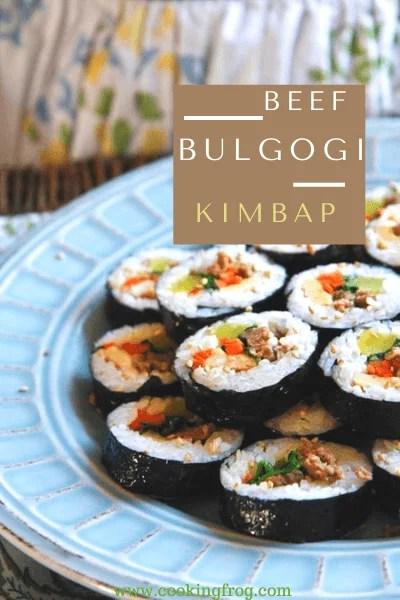Beef Bulgogi Kimbap Recipe