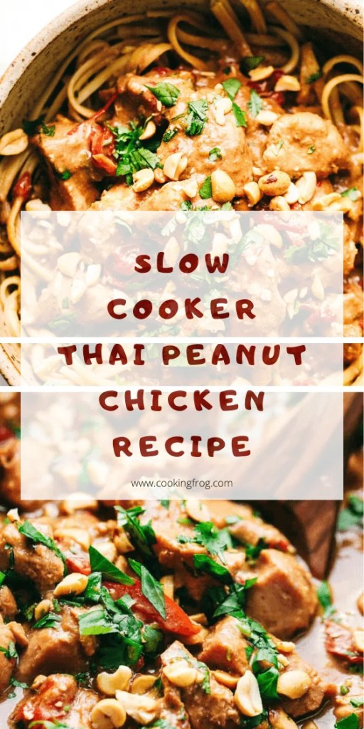 Slow Cooker Thai Peanut Chicken Recipe