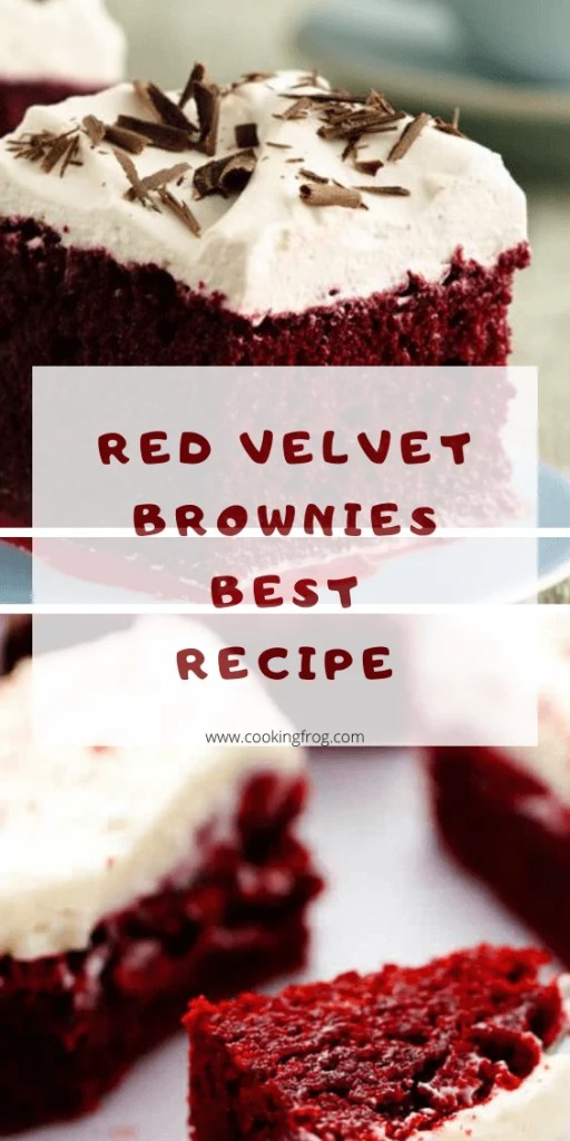 Red velvet brownies easy recipe