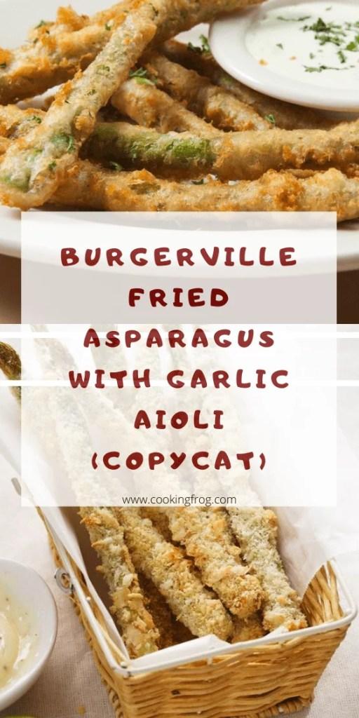 Burgerville Fried Asparagus with Garlic Aioli (Copycat)