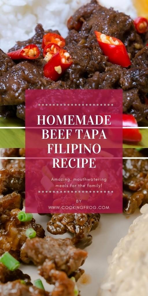 Homemade Beef Tapa Filipino Recipe