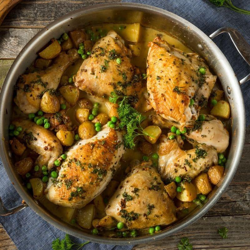 Homemade Italian Chicken Vesuvio Recipe