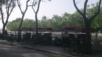 Taxi bikes in Gulou district
