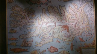 Ancient Island map @the Whale museum in Husavik