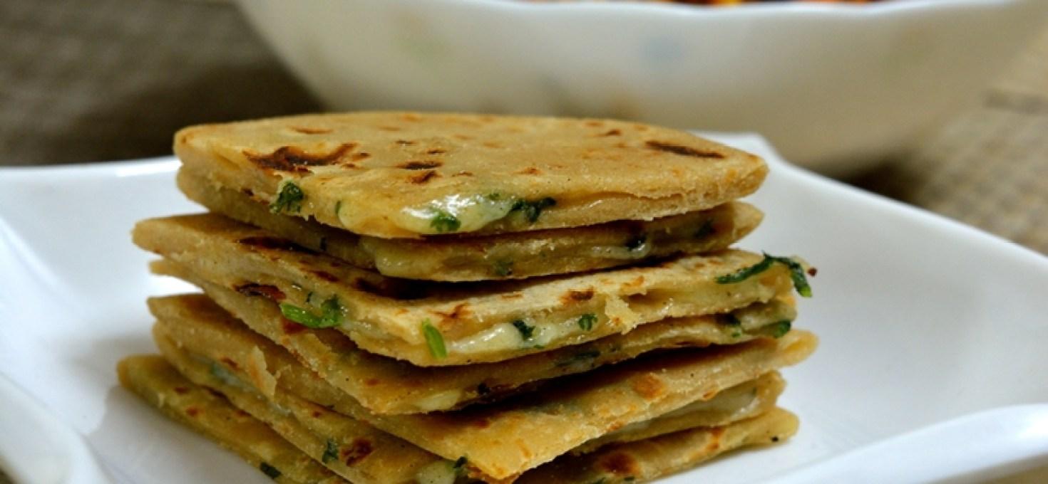 Cheese Coriander Paratha