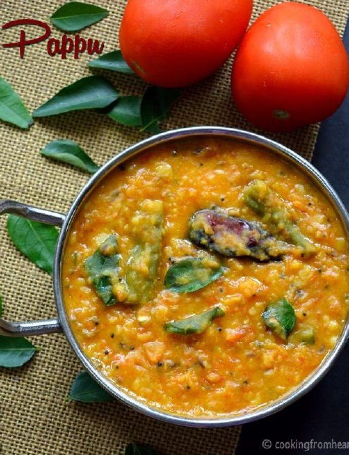 Andhra Tomato Pappu | Tomato Dal