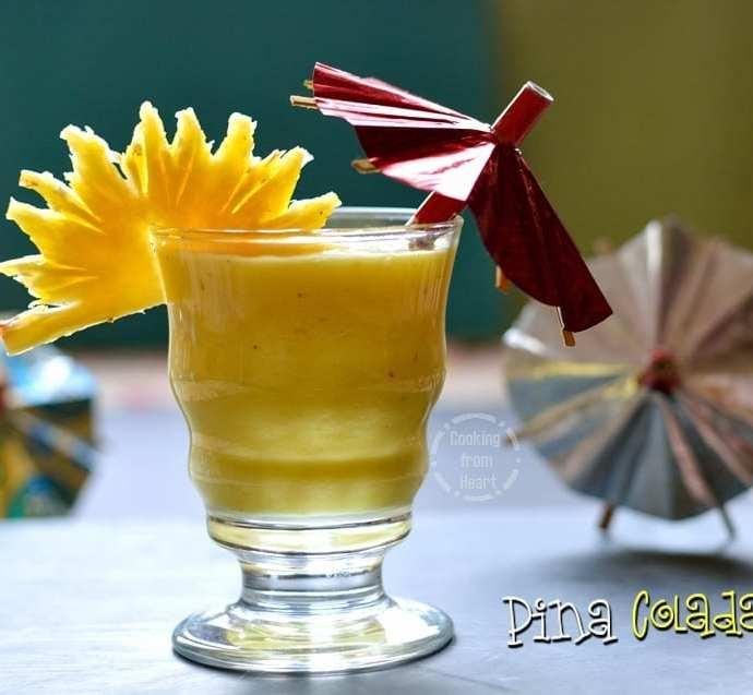 Virgin Pina Colada | Pina Colada Mocktail | Summer Cool Drink Recipes