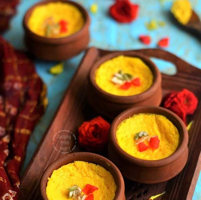 Mango Bhapa Doi | Aam Doi | Bhapa Mishti Aam Doi