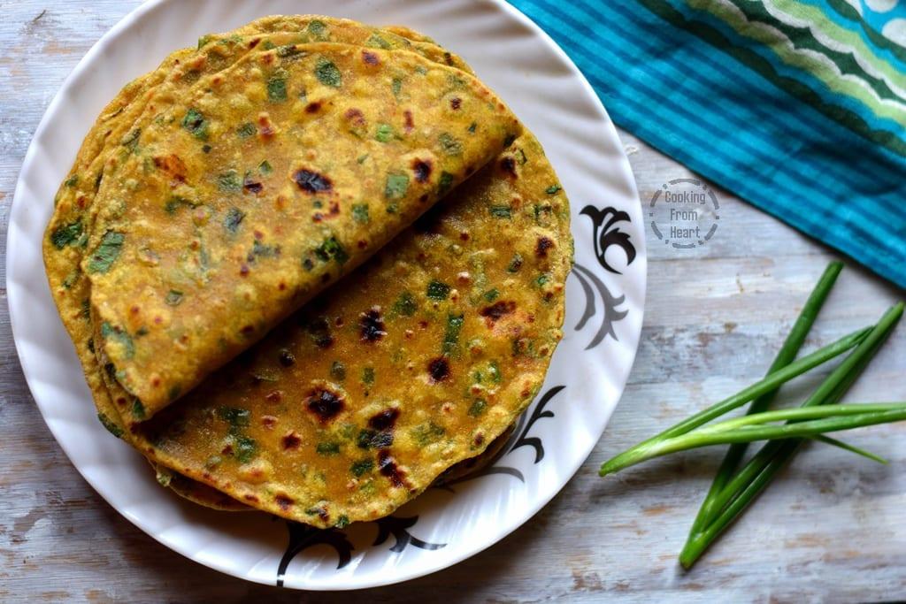 Spring Onion Paratha