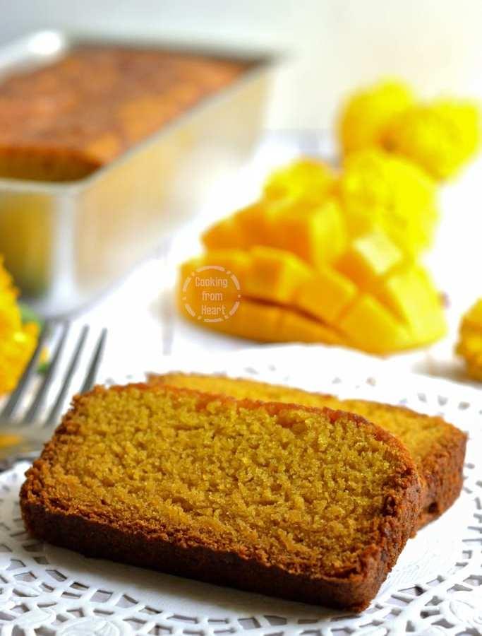 Eggless Mango Cake | Eggless Mango Loaf
