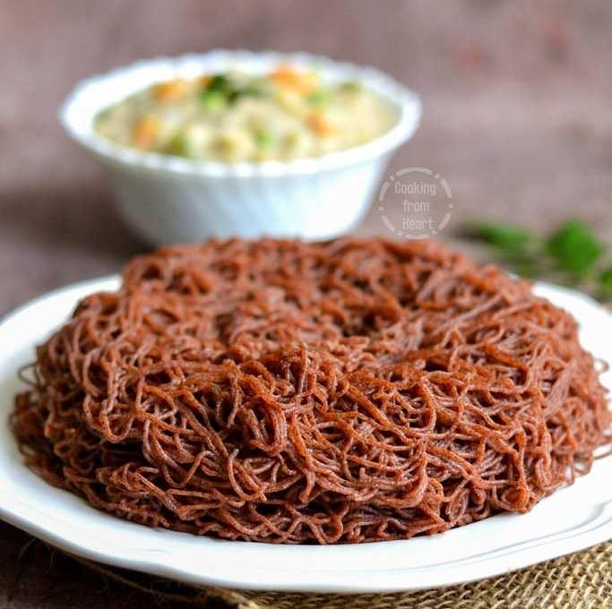 Ragi Idiyappam | Ragi Sevai | Finger Millet Idiyappam