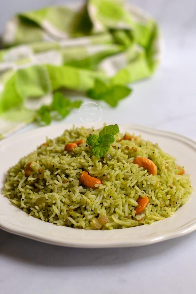 Pudina Sadam - Mint Rice
