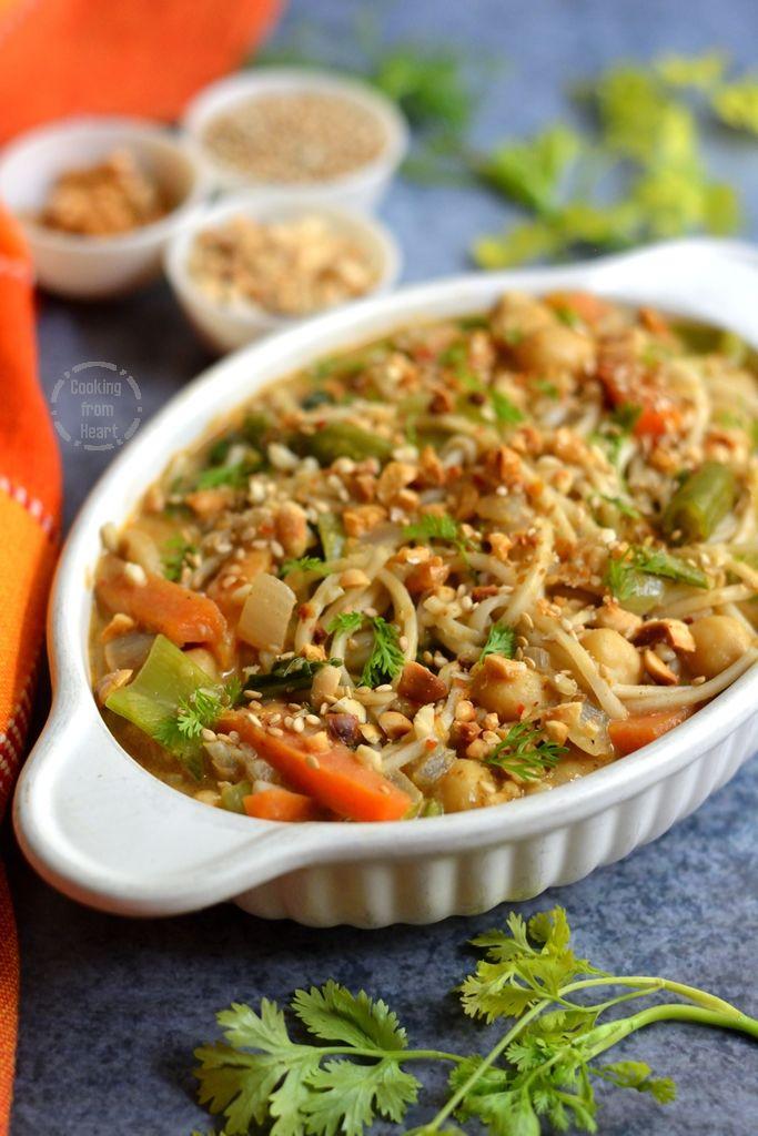 Easy Thai Curry Noodle Bowls
