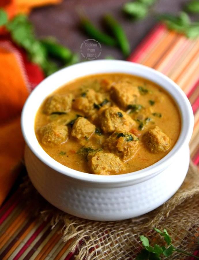 Soya Chunks Kurma | Meal Maker Kurma | Easy Side Dishes