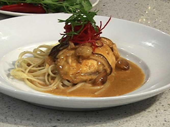 halibut-with-shiitake-mushroom-sauce-recipe