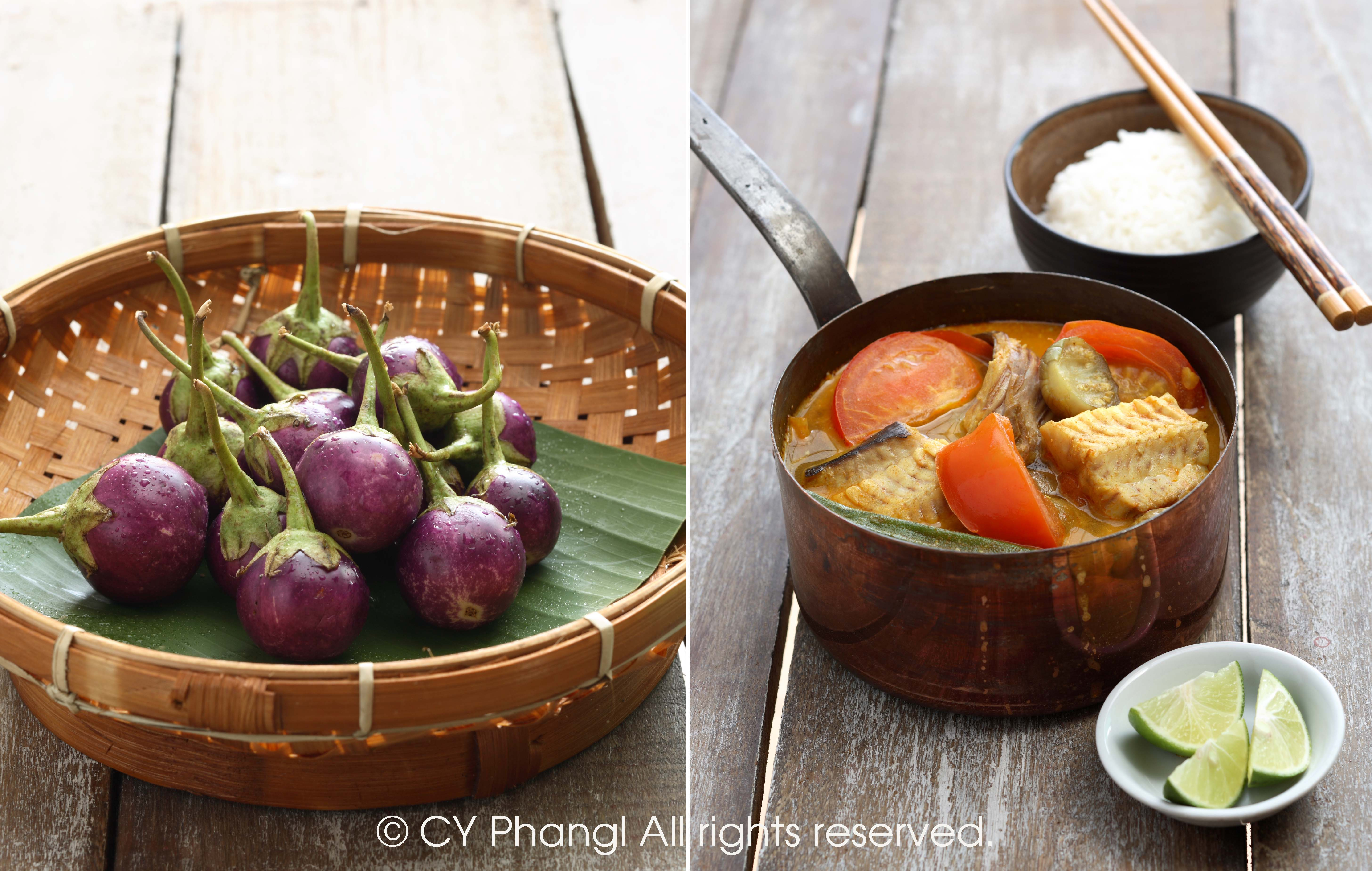 stingray fish curry-diptych