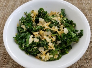 Baked Kale Salad with Coconut