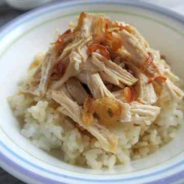 Taiwanese chicken rice.