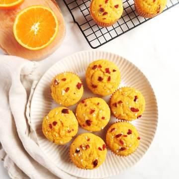 whole orange cranberry muffin.