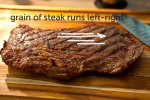 Grain of the steak
