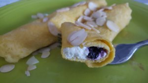 Blueberry Paleo Crepes