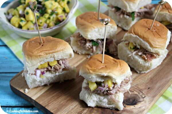 Kalua Pork Slider with Spicy Pineapple Relish | Cooking In Stilettos