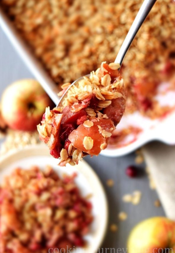 healthy apple crisp
