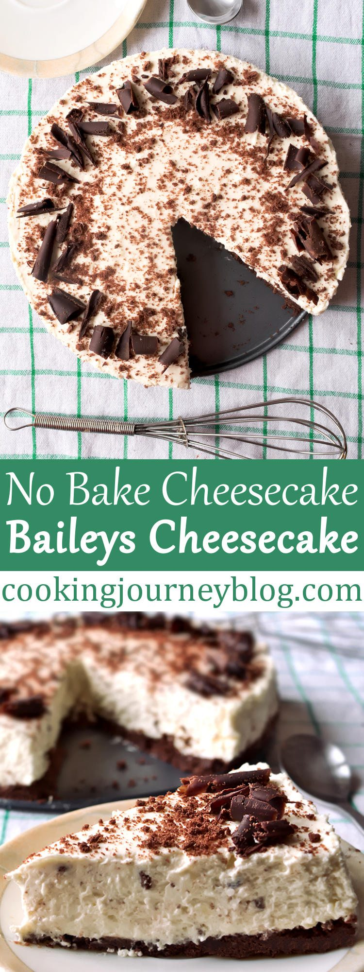 Baileys cheesecake – Irish desserts – No bake cheesecake