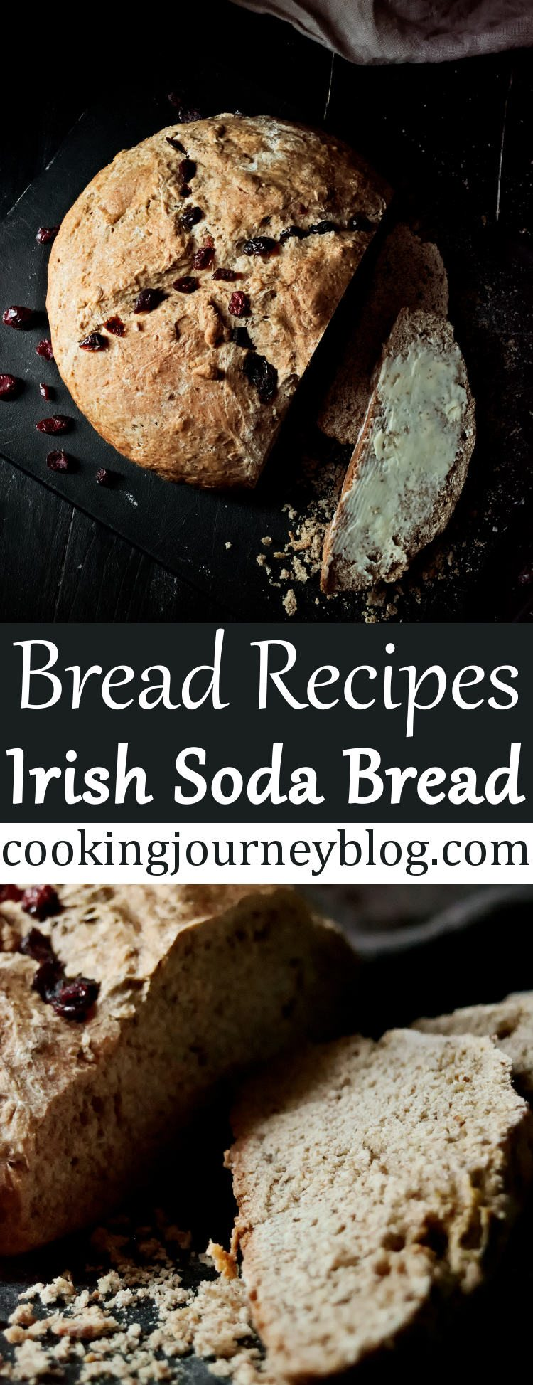 Irish soda bread is an easy homemade bread. This is a traditional Irish food, as for centuries families used to have whole wheat bread on the table. You will love to make this no yeast bread for St Patrick's day or every day! #irish #bread #stpatricksday