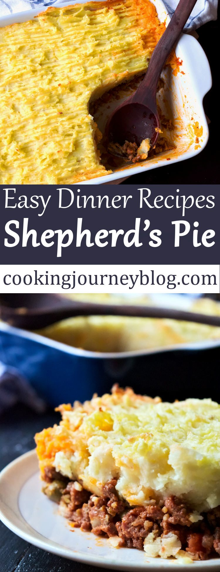Shepherds pie meat pie easy dinner recipes cooking journey shepherds pie is a classic british dish that any one should try at least once in forumfinder Gallery
