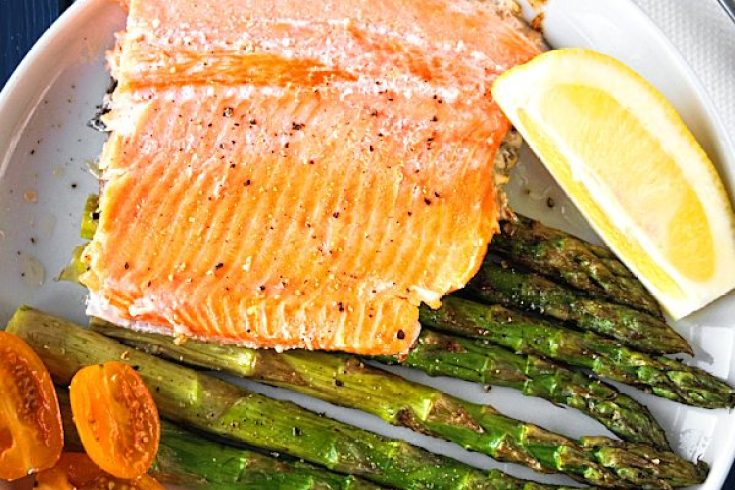 Roasted trout with asparagus – Baked trout – Fish recipes