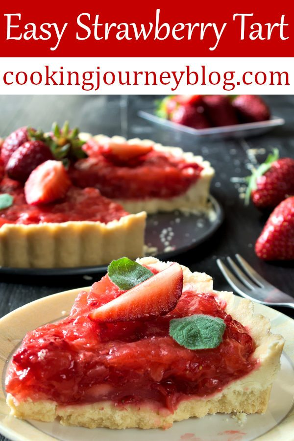 Easy strawberry tart looks amazing, it is made with fresh berries and sweetened with honey. This is one of healthy and easy strawberry desserts to enjoy all summer long! Fresh strawberry pie without jello. #strawberry #dessert #french #healthyfood #realfood #easyrecipe