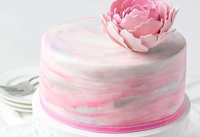 Watercolor Fondant Cake Cooking Lsl