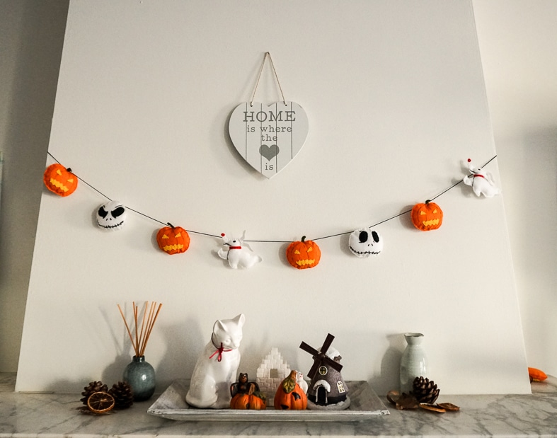 "Halloween Felt Decoration ""Nightmare before Christmas"""