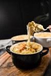 potato gratin artichokes and buffalo mozzarella